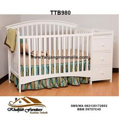 White Crib With Attached Changing Table The Baby Boy