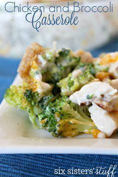Easy Chicken and Broccoli Casserole | Six Sisters' Stuff