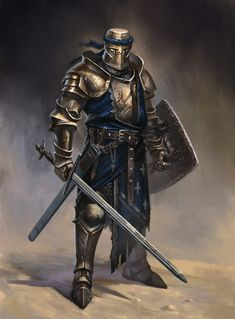 m Paladin Plate Helm Shield Sword midlvl fighter knight sword and board Medieval Knight, Medieval Armor, Medieval Fantasy, Armadura Medieval, Fantasy Armor, Dark Fantasy, Dnd Characters, Fantasy Characters, Fictional Characters