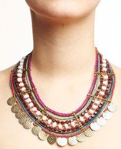 Perles + barres de séparation + sequins ronds