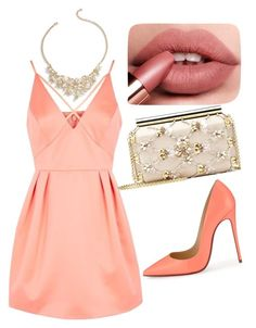 """Untitled #27"" by jasminalugavic ❤ liked on Polyvore featuring Topshop, Christian Louboutin, Oscar de la Renta and Talbots"