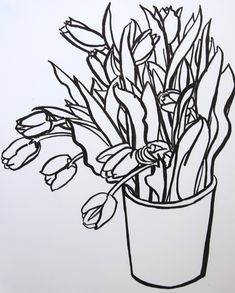 Tulips in a Bucket by Megan Williamson on Artfully Walls
