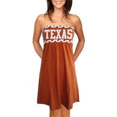 a1495c86bc Texas Longhorns Ladies Burnt Orange Braided Dream Tube Dress Florida State  Seminoles