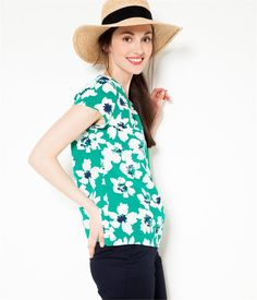 Women's blouse with large flower print