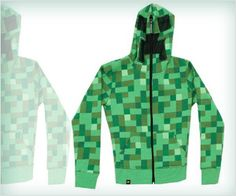 Minecraft #game inspired full face hoodie - looks #geek for sure !