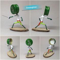 #병뚜껑아트 #뚜껑맨 #펜싱 #ビンの栓芸術 #瓶盖 #艺术 #瓶盖人 #BottleCapArt #Fencing #击剑 #剑击 #フェンシング