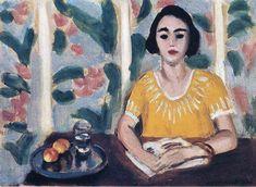 'frau lektüre mit pfirsiche', 1923 von Henri Matisse (1869-1954, France)