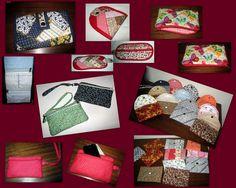Carteiras confeccionadas por Marta Marcondes Artesanato em Tecidos