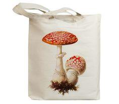 Mushroom 38 Vintage Eco Friendly Canvas Tote Bag (ixp038)