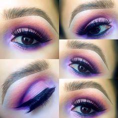 Purple eyeshadow look @ rosie_pops