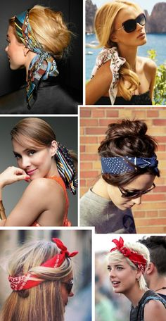 Vintage Hairstyles With Bandana Curls Ideas Bandana Hairstyles Short, Bobby Pin Hairstyles, Headband Hairstyles, Vintage Hairstyles, Easy Hairstyles, Short Hair Bandana, Hairstyles With Scarves, Bandana Curls, Hair Scarf Styles