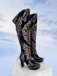 Details about  /2021 Ladies Platform Boots 22cm Metal Super High Heel Knee High PU