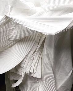Textiles, Textile Patterns, François Lesage, Art Chanel, Wrinkled Paper, Magazine Mode, Paper Anniversary, White Picture, White Aesthetic