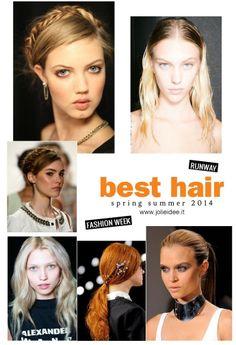 Capelli Primavera Estate 2014 / Spring Summer 2014 - Fashion Week Hairstyle #hairstyle #glamour #hair #fashion #braid #fashion   #longhair #style #curly   #primaveraestate2014 #hairfashion #fashionweek