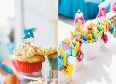 Vibrant Whimsical Beach Wedding Photo by So Life Studios @solifestudios -- Cupcakes