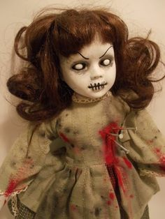 how to distress a porcelain doll for halloween - Google Search