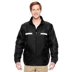 Harriton Men's Black Survey Fleece-Lined All-Season Jacket
