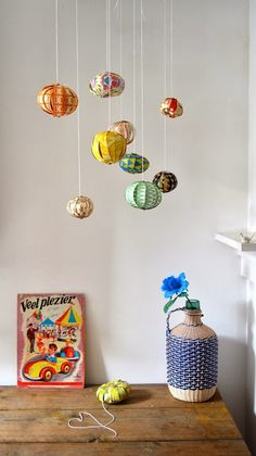"""Diy hanging balls-----for my """"round"""" grouping?"""