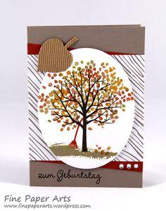 Stampin up, Karte Herbst, card autum, Stempelset Baum der Freundschaft, Sheltering tree - Fine Paper Arts