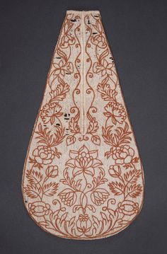Historical Hand Embroidery Design Mid-18th century Pocket