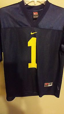 99fe9d1b8 Michigan wolverines nike football jersey size med 10-12 youth