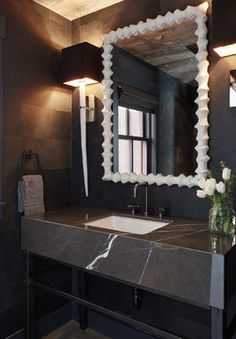 Tahoe Modern - contemporary - Powder Room - San Francisco - Artistic Designs for Living, Tineke Triggs