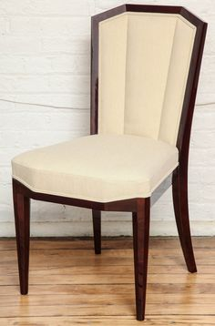 Graceful Suite of 8 Art Deco Dining Chairs | From a unique collection of antique and modern dining room chairs at https://www.1stdibs.com/furniture/seating/dining-room-chairs/