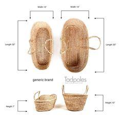 Baby carretilla cesta de mimbre maciza moisés Design zorro gris