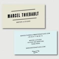 Marcel Cartes De Visite Carte Portrait