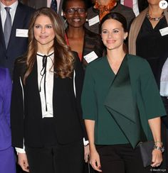 King Carl Gustaf, Queen Silvia, Princess Madeleine András Princess Sofia attended the Global Child Forum on November 26, 2015 in Stockholm, Sweden.