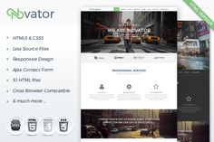 Novator - Multipurpose HTML Template by @Graphicsauthor