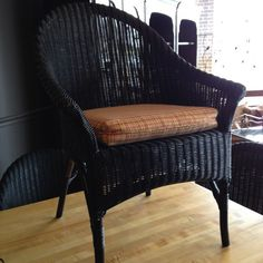Black Wicker Ballard Chairs We have 8!