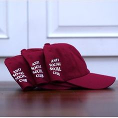 6af083e6232d4 Anti Social Social Club Weird Cap Cranberry Size   AS Price   1400000 by  porteltd