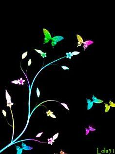 Resultado de imagen para neon animated flowers