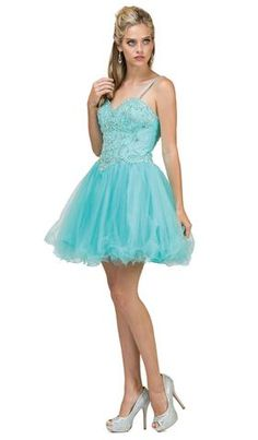 Dancing Queen - 2024 Jewel Festooned A-Line Cocktail Dress Turquoise Homecoming Dresses, Turquoise Dress, Blue Dresses, Casual Dresses, Short Dresses, Prom Dresses, Formal Dresses, Ice Blue Dress, Blue Colour Dress