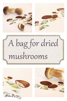 Helen Fir-tree #helenfirtree #handmade #rucniprace  #idea  #mushrooms #machineembroidery #embroidery Dried Mushrooms, Stuffed Mushrooms, Fir Tree, Machine Embroidery, Needlework, Place Card Holders, Handmade, Stuff Mushrooms, Embroidery
