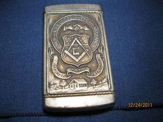 old Masonic match safe