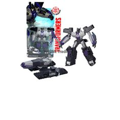 """Transformers Robots in Disguise Animation Series Deluxe Class 5-1/2"""" Tall Robot Figure - Decepticon MEGATRONUS with Sword (Vehicle Mode: Tank)"""