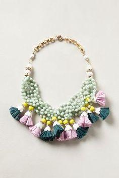 So cute tassel necklace