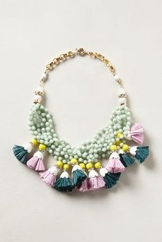 Anthropologie	Tasseled Strands Necklace