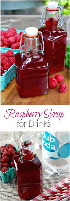 Homemade Raspberry Syrup to add to drinks! Make Italian soda or creamy soda! The Foodie Affair