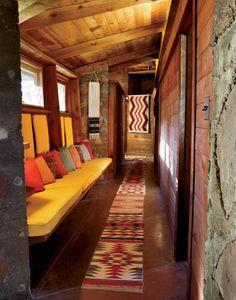Frank Lloyd Wright, Fir Tree House, 1948 #interior #architecture