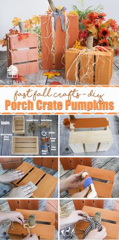 DIY Easy and Fast Pumpkin Crates by Walnut Hollow