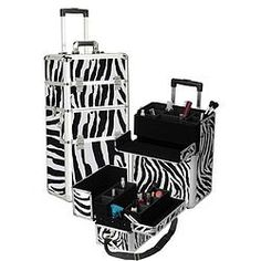 Zebra Cosmetics Train Case