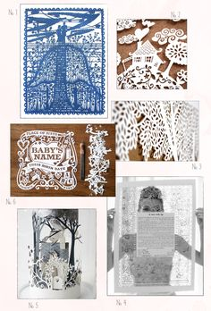 awesome paper cuts from Oh So Beautiful Paper