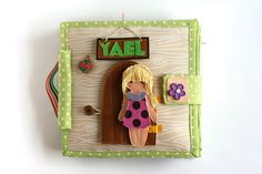 """Dollhouse quiet book with felt """"paper"""" doll, Custom travel busy book, 4-12 pages, Made to order by TomToy on Etsy https://www.etsy.com/listing/208945034/dollhouse-quiet-book-with-felt-paper"""