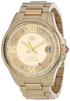 Juicy Couture Women's 1901026 Jetsetter Gold Plated Bracelet Watch