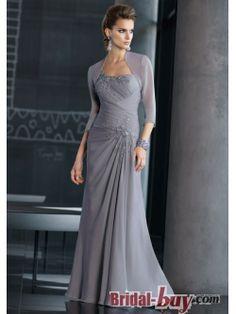 Elegant Princess One-shoulder  Lace Appliques Ruched Long Chiffon Mother Of the Bride Dress MBD-9046