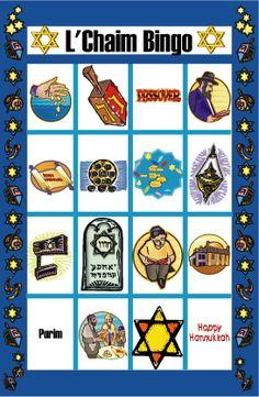 Jewish Life Bingo Game