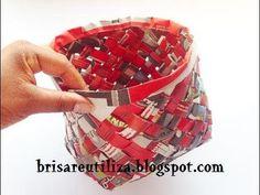 46. RECICLAJE DE PAPEL (CESTA CON TEJIDO INCLINADO)- DIY BASKET http://www.kemifun.com/videos/nc/xtm5JbwvJ0c.html